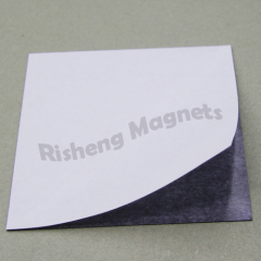 Flexible Magnetic Backing Sheets 100mm x 100mm x 0.5mm High Quality Adhesive Applied