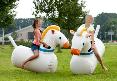 Inflatable Horse Hair Game