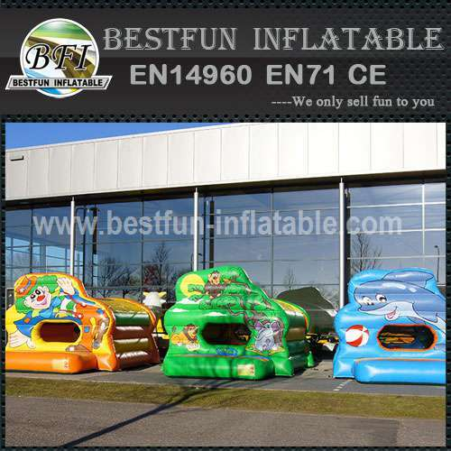 Interactive inflatable bouncer game