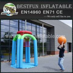Basketball inflatable interactive game
