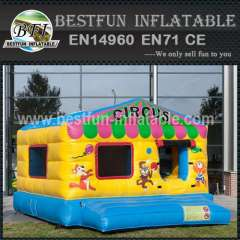 Inflatable playground interactive game