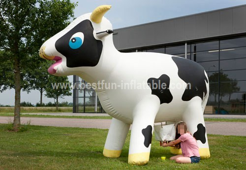 Game milking the cow inflatable