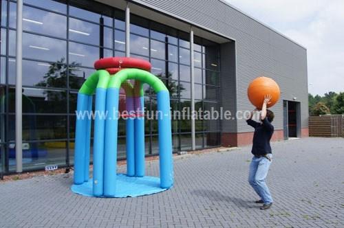 Giant inflatable basketball game