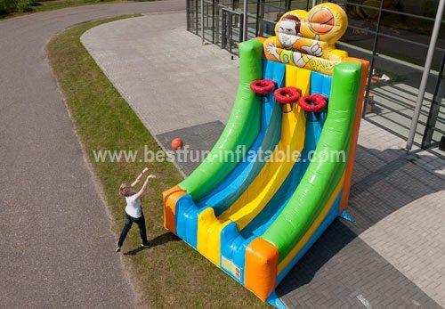 Inflatable basketball shoot game