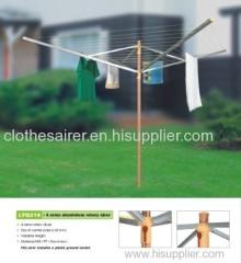 wooden colour aluminium garden rotary clothes air dryer.