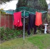 4-arm outdoor umbrella rotary clothesline airer
