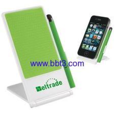 2015 New design plastic mobile phone holder with stylus ballpen