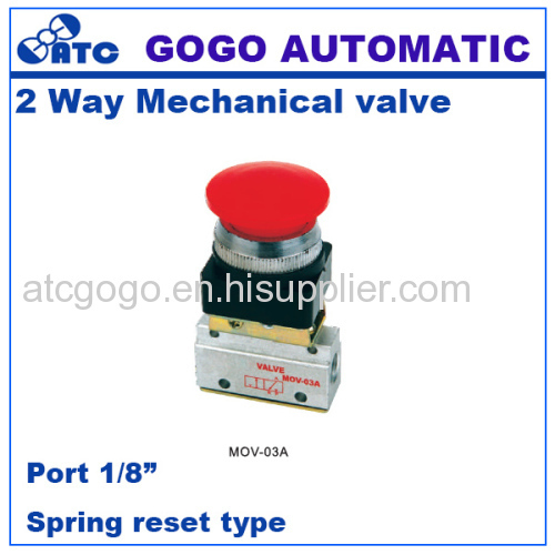 Pneumatic 2 way air Manual Mechanical valve hand control valves 1/8 inch