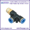 3 way pipe connector pneumatic hose quick fittings male thread