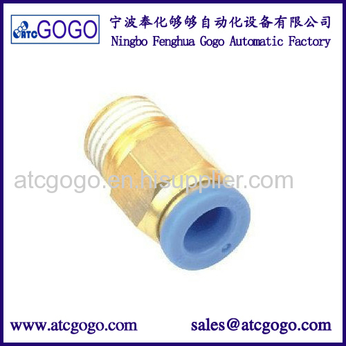 P-lastic corner connector L type metal pneumatic elbow fitting