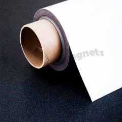 High Quality Gloss White PVC Vinyl Coated Magnetic Paper Sheet 0.3mm x 620mm x 30m
