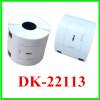 62mm*15.24m black on clear DK label tape compatible brother DK printer Ribbons Printer Supplies color printer r