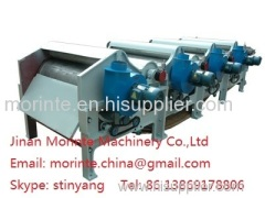 Opening machine worked with recycling machine