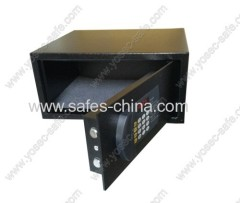 Flat keypad hotel room safe box with electronic lock operated