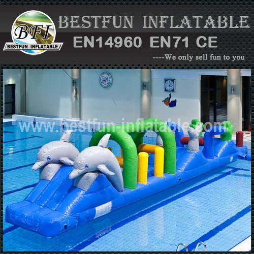 Amusement inflatable water park