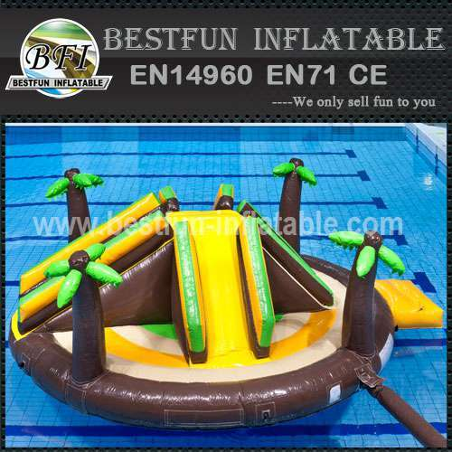 Attractive inflatable water park