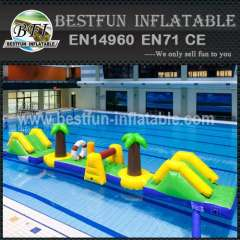 Inflatable aquatic water park
