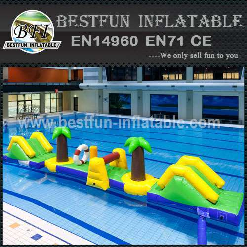 Inflatable aquatic water park