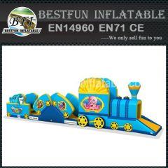 Blue inflatable water park games