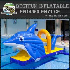 Commercial inflatable water park