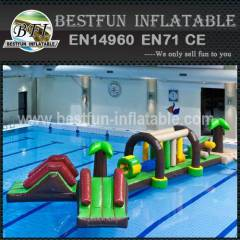 Double inflatable water park