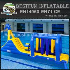 Cool inflatable floating water park