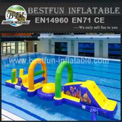 Crazy fun inflatable water park