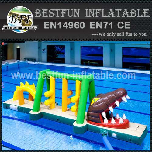 Inflatable bouncer with water park