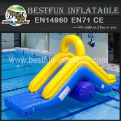 Hostile inflatable water park slide