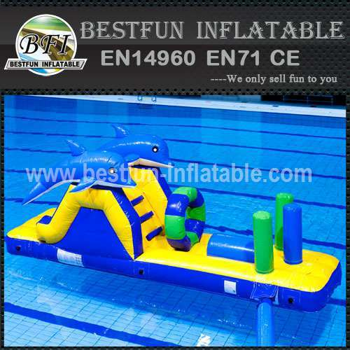 Above ground inflatable water park