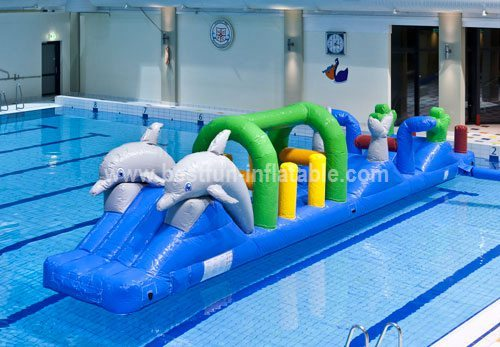 All in one inflatable water park