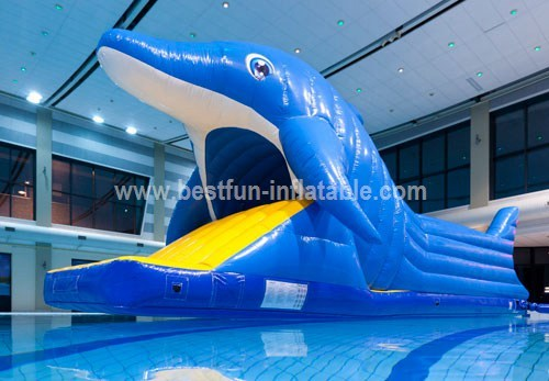 Antique inflatable used water park slide