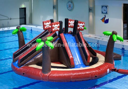 Beach inflatable water park