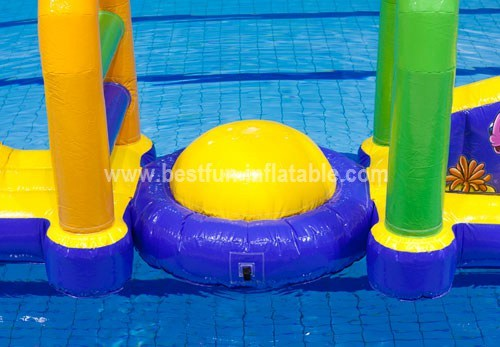 Contemporary kid's inflatable water park