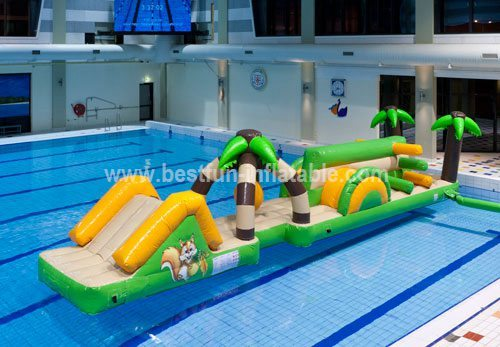 Custom-made inflatable water slide park