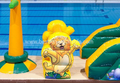 Floating inflatable climbing water toys