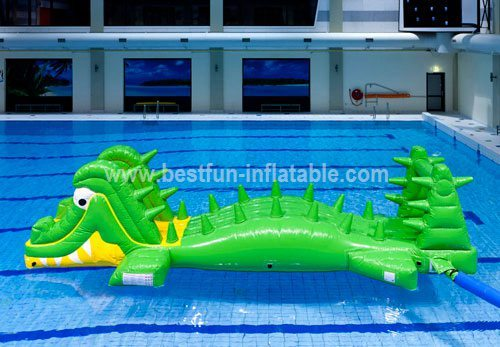 Fun playing inflatable water bridge game