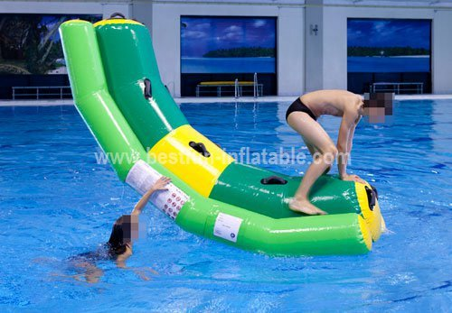 Giant beach inflatable water park