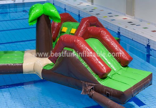 Inflatable wet slide water park