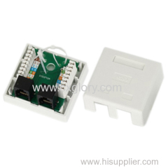 Double Port Cat. 5e RJ45 Surface Box