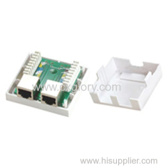 Double Port FTP Shielded Cat. 5e RJ45 Surface Box