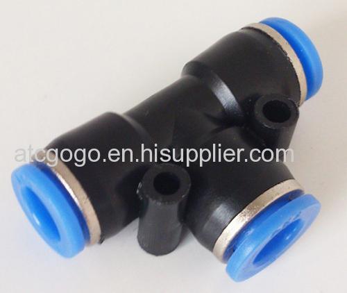 Way pneumatic fitting tee connector nylon pu tube air