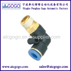 PL8-02 elbow connector for oil bottle filling machine