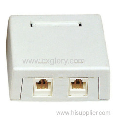 Dual Port Surface Box RJ45
