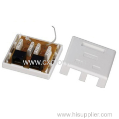 Cat. 6 Surface Mount Box Dual RJ45 8p8c White