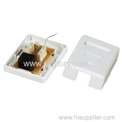 RJ45 RJ11 Surface Box Telephone Rosette Box GL 6008