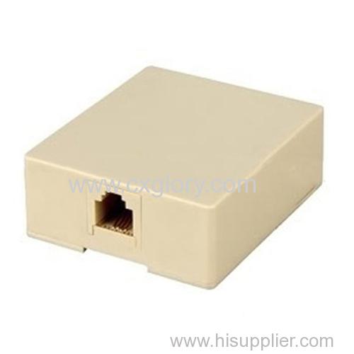 RJ45/RJ11 Surface Box Telephone Rosette Box