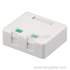 High Quality Surface Rj11 RJ45 Box with Shutter