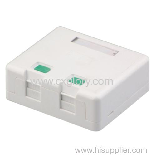 High Quality Surface Rj11 RJ45 Box with Shutter