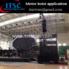 Eletronic chain hoist application in gymnasium concert events